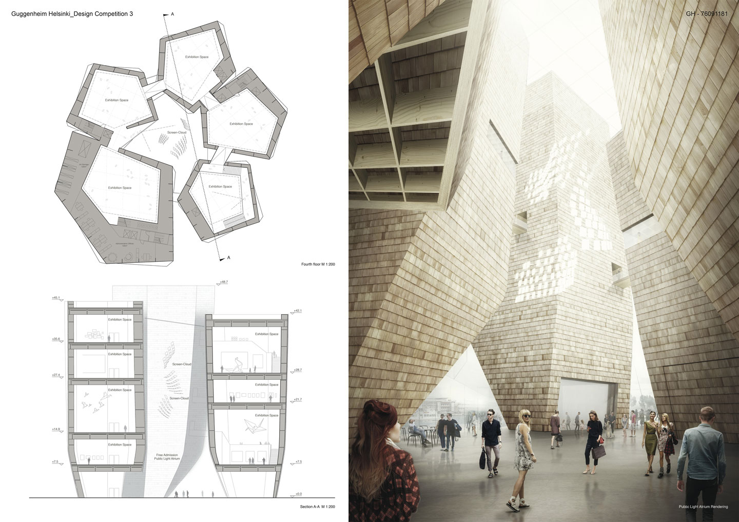 Guggenheim helsinki inspires the new shape of for Architecture house design competitions